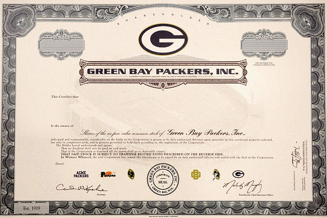 Green Bay Packers, Packers Fans, Cheeseheads, Packers Stock, $250